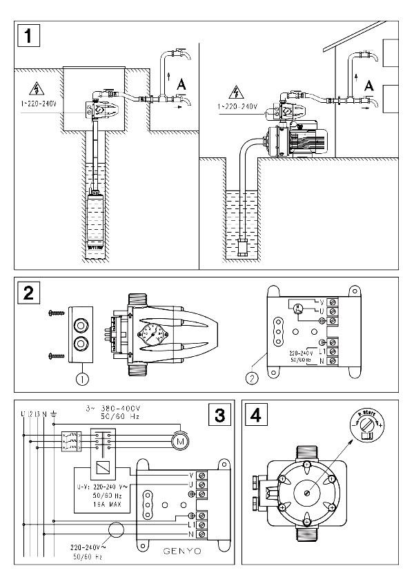 Schema Elettrico Quadro Lowara : Press control genyo a lowara pompa presscontrol