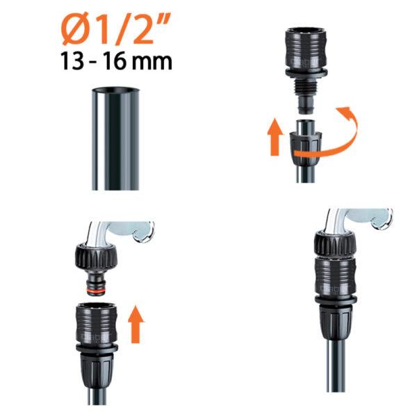 Istruzioni-montaggio-Si-usa-per-collegare-il-tubo-collettore-da-1-2-13-16-mm-alla-presa-con-attacco-rapido-montata-sul-rubinetto